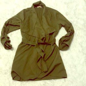Jackets & Blazers - Green trench